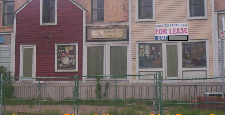 photo of an abandoned storefront